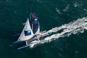 Najhitrejša jadrnica preko Atlanskega oceana Banque Populaire V