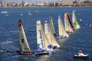 Ogled Volvo Ocean race z jadrnice